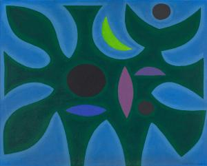 John COBURN (b.1925; d.2006) - BIRD AND MOON