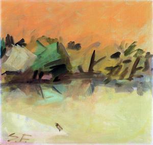 Samuel Sydney (Sam) FULLBROOK (b.1922; d.2004) - BIRD ON A SANDBANK