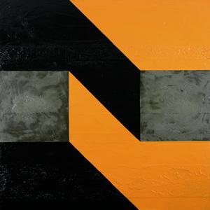 Mila GRIGORIEV (b.1960) - BLACK & YELLOW CONSTRUCT