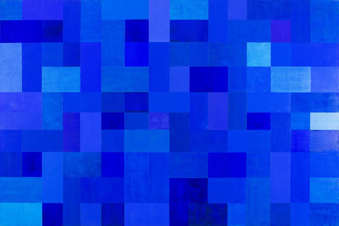 Robert JACKS (b.1943; d.2014) - BLUE ON BLUE