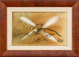 Kevin Charles (Pro) HART M.B.E. (b.1928; d.2006) - DRAGONFLY & ANTS