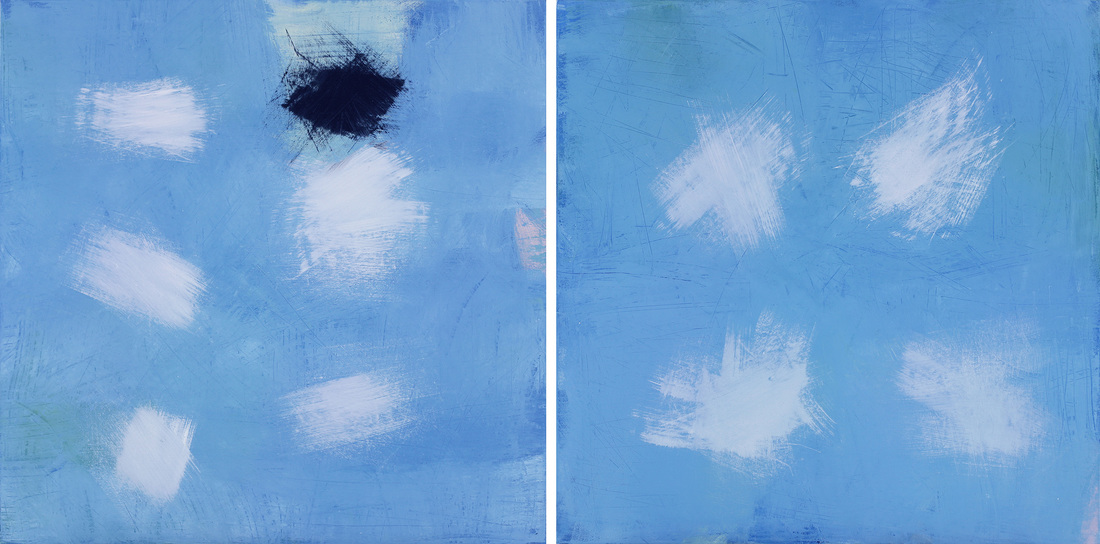 Ann CAMERON (b.1947) - FAINT FADING TO FAINTER (diptych)