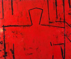 Graham FRANSELLA (b.1950) - HEAD ON RED DAY