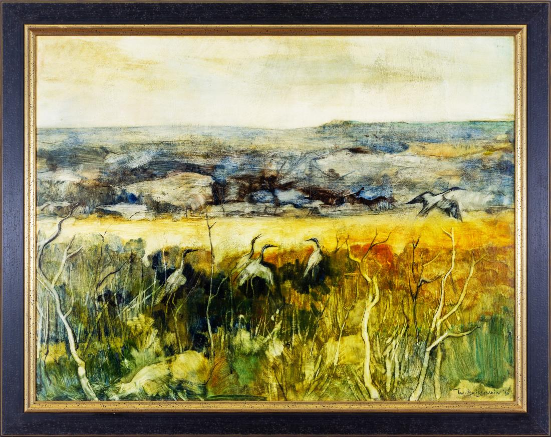 William (Wim) BOISSEVAIN (b.1927) - LANDSCAPE WITH BROLGAS