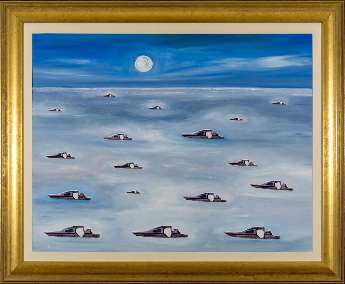 Robert Raymond John FISHER (b.1950) - MYSTERY PLANE LAKE EYRE