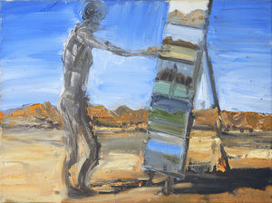 Euan MACLEOD (b.1956) - PAINTING IN DESERT