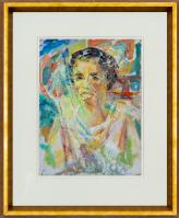 Francis (Frank) H. C. HINDER (b.1906; d.1992) - PORTRAIT OF MARGEL