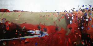 Anita WEST (b.1965) - RED HILLS