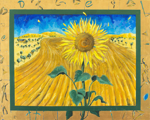 Anita WEST (b.1965) - SUNFLOWER