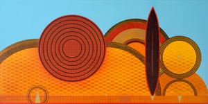 David Keith MILNE (b.1946) - SUNSHINE WARM & SOFT BLUE SKY