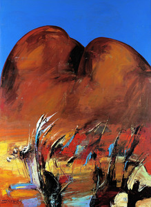 Reinis ZUSTERS O.A.M. (b.1918; d.1999) - TEXTURE OF THE DESERT (The Olgas)