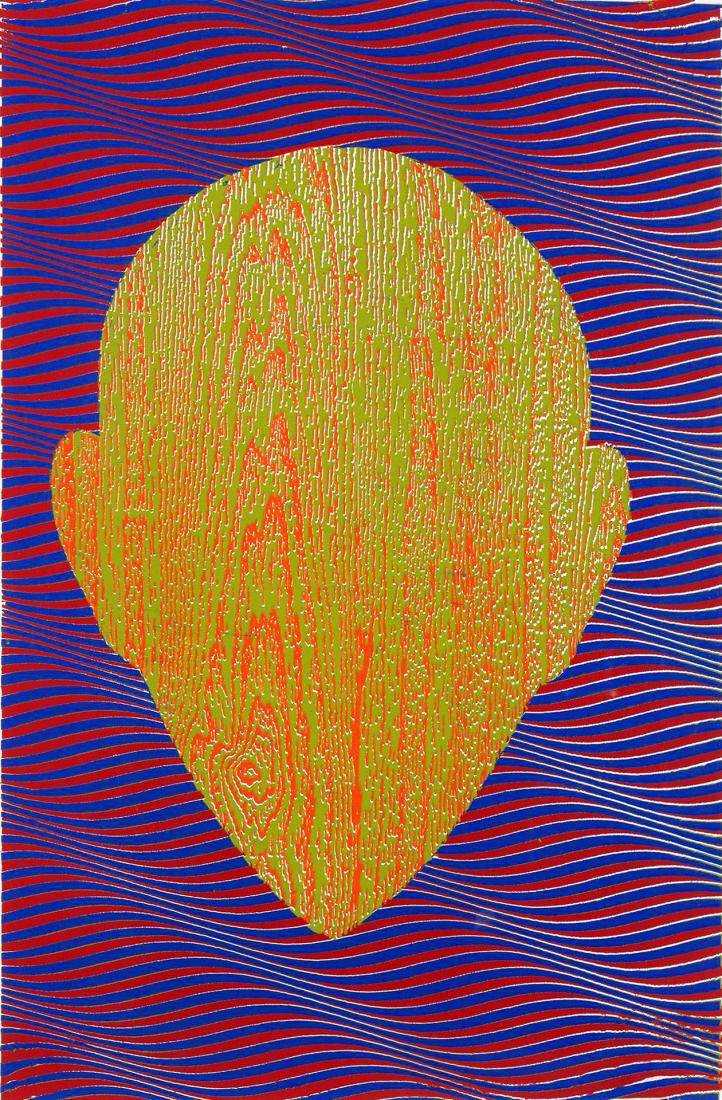Howard ARKLEY (b.1951; d.1999) - UNTITLED (WOODGRAIN ZAPPO HEAD)